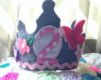 Birthday Crown Custom and Made to Order Baby Toddler Child
