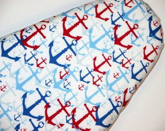New - Standard size - New Ironing Board Cover - Primary colors - red white and blue boat anchors Fabric.