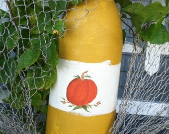 Hand Painted Maine Buoy, Fall Home And Living Decor, Thanksgiving Decor