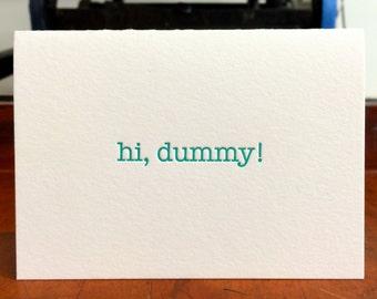 Hi Dummy