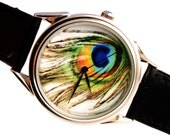 Peacock Watch, peafowl watch, ladies watch, mens watch, womens watch,