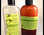 Herbal Body Lotion & Body Wash Giftset - Daily Skincare - Natural Bath and Body - Scented Moisturizer - Liquid Bath Soap - Holiday Gifts