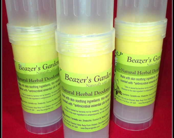 Organic Handmade Deodorant - Herbal Pit Cream - Natural Deodorant - Vegan Deodorant - Mens - Womens - Bath & Body - Unisex - Teens Grooming