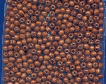 450-500 8mm Wood Beads,  Brown