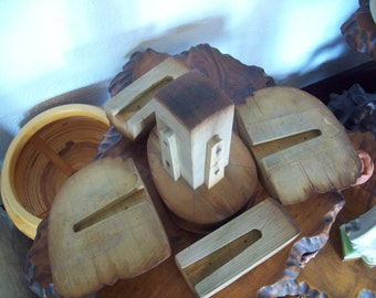 Antique Paramount NY Hat Block Wood Millinery Form ~ 5 pc.Puzzle ~ SteamPunk ~ Factory Mold