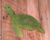 Wooden Turtle - Indoor Beach Decoration