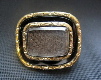 Victorian Hair Mourning Brooch
