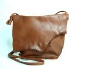 Sylvie Peace Bag no.188  full grain distress caramel leather