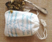 Reserved  //  Tea Favors. Bridal Shower Favors. Bags only set of 25-Navy Ink