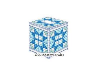Plastic canvas EZ PC Tissue cover 1B PDF Format Instant Download