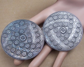 Art Nouveau belt buckle dress buckle sash buckle Victorian buckle Edwardian buckle antiqued silver tone (AG)