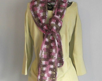 Greens and Pinks scarf