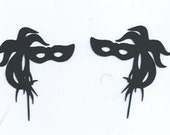 Masquerade masks number two cupcake toppers set of 24