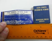 Admiral Nimitz Clubi matchbooks,  Kessler Field MS, World war II matches, vintage matches