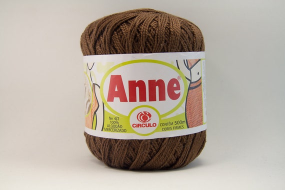 Anne Cotton Crochet Thread Yarn #3 Size - Color 7382 - Chocolate Brown