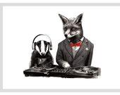 DJ CRAFTY FOX  A3 Print