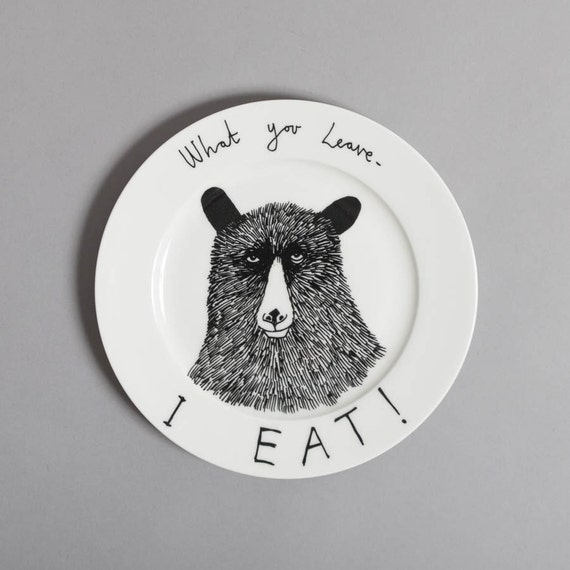 Hungry Bear side plate