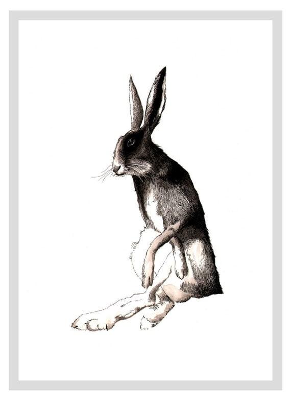Hare  - A4 print