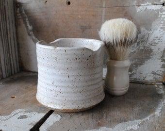 Stoneware Shave Mug and Shave Brush