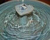 "Ceramic Cat Fountain/Pet Fountain, Foodsafe -  ""Waterheart"" - 10.75 inch Diameter"