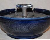 "Cat Fountain, Pet, Drinking Fountain, Outdoor Fountain - Food safe, Ceramic - 12 Inch Diameter -  ""2 Zen"""