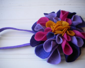 Felt Flower Headband in Fall