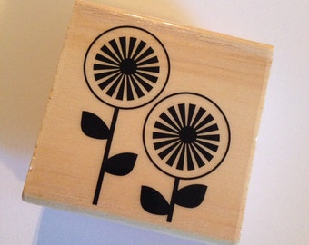 Flower Rubber Stamp // Brand New