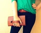 Leather Clutch, Minimal Clutch with Handle, Women's Leather Bag, Leather Handbag, Women's Leather Purse, Daytime Clutch