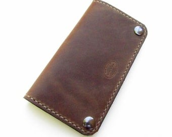 Mens Leather Wallet Classic Biker Wallet Distressed Brown Mens Wallet Leather Wallets For Men Custom Wallet Can Be Monogrammed