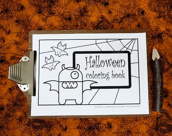 Halloween printable d.i.y. coloring book