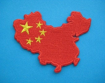 Iron-on embroidered Patch China Map 3 inch