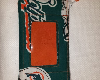 Miami Dolphins  Zip ID pouch