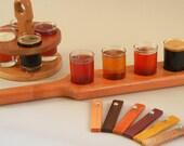 beer taster paddle cherry wood