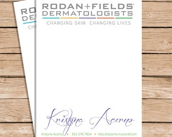 Rodan and Fields Note Cards / Thank You Notes