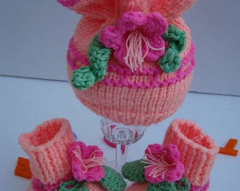 Fancy Girl  Fancy 2pc. Set Baby Hat Baby Booties PHOTO PROP Baby Shower Gift