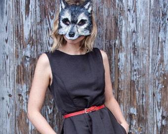 Grey wind direwolf mask, Big Bad Gray Wolf Mask, werewolf mask, wolf costume, adult mask, child mask, animal mask, little red riding hood