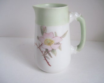 Haviland French Limoges Creamer, Hand Painted , Signed , CFH