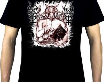 Sabbatic Satanic Baphomet Goat Devil Men's Occult Short Sleeve T-shirt