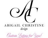 Custom Listing for Angela Jordan