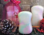 Candy Cane Soap Christmas Handmade Cold Process Soap Bar Gift