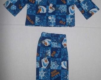 "Disney Frozen Olaf pajamas fits 18"" American Girl Dolls"