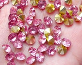 6mm Tip End Rhinestones / SS28 Pointed Back Resin Rhinestones (Pink / Around 25pcs) Bling Bling Faceted Round Rhinestone Decoration RHE108