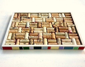 Paint Chip Mod Border Wine Cork Bulletin Board