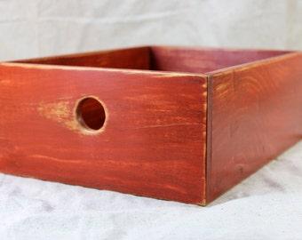 Desktop Storage Box in Antique Red