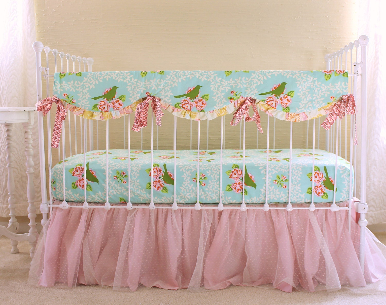 Turquoise and pink bumperless bedding set turquoise for Turquoise and pink bedroom