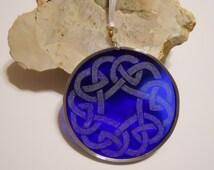 Blue Celtic Knot Suncatcher