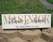 Last Name Sign, Family Name Sign, Name Sign, Family Sign, Personalized Signs, Personalized Family Name Signs, Custom Signs, Established Sign