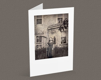 THE FORGOTTEN blank note card A6, vintage images, gothic inspired, halloween card