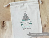 TEEPEE Pow Wow -  Personalized Favor Bags - Set of 10 - Birthday - cowboys & Indians - Native Americans