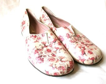 Bridal Shoes Leather Loafers Rose Flats Rose Wedding Shoes Rose  Romantic Shoes Rose Prom Shoes Beautifeel 39 38 SZ 8 Fun Shoes Unique Shoes